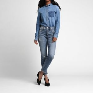 Silver jeans    maryland straight high waist jeans